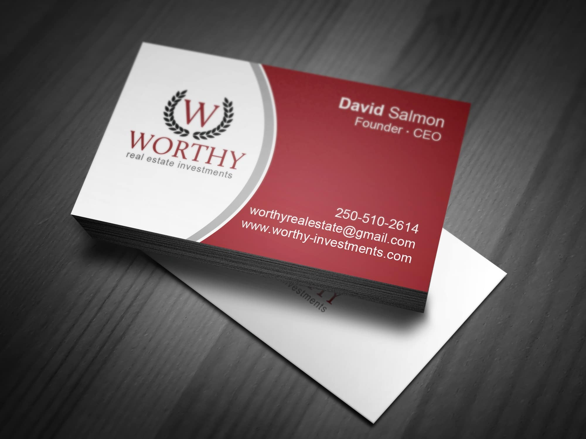 Maple Ridge Business Card Design